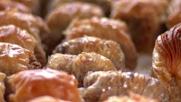 Baklava de sobremesa tradicional turca video