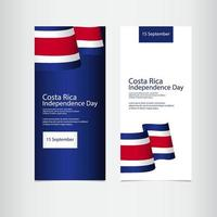 Costa Rica Independence Day Vector Template Design Illustration