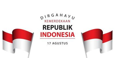 Dirgahayu Kemerdekaan Republik Indonesia Vector Template Design Illustration