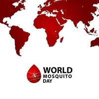Ilustración de diseño de plantilla de vector de celebración del día mundial del mosquito