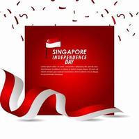 Singapore Independence Day Celebration Vector Template Design Illustration