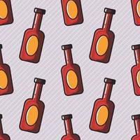 beer bottle seamless pattern illustration vector