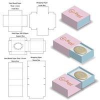 sleeve rigid box for soap mockup with die line vector