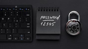 Top view lock with password and keyboard photo