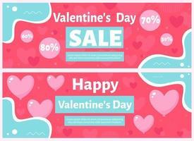 Valentine's Day sale. Vector illustration