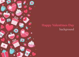 Valentines Day background. Vector illustration