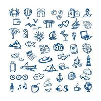 travel - vector flat icons for web. Tourism - sketch set for hotels and travel agencies.