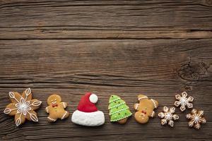 vista superior decoración navideña con espacio de copia foto