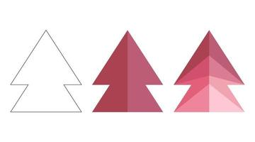 Polygonal, flat and contour arrows set isolated on a white background vector