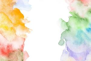 telón de fondo de acuarela con manchas de colores foto