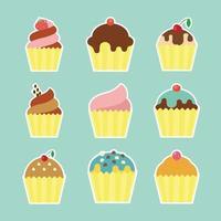 flat cup cake vector design