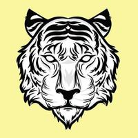 tiger head detailed style vector