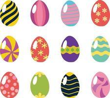 huevo de pascua, diseño plano, vector, conjunto vector