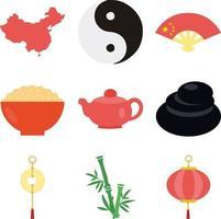 china flat design vector set