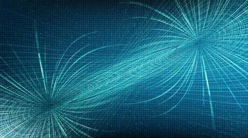 Blue Digital Line on Technology Background vector
