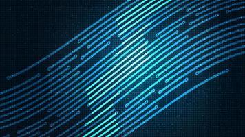 fondo de tecnología de línea digital vector