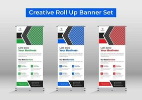 Business roll up banner template or signage vector