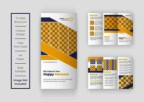 Photography Tri-fold brochure vector