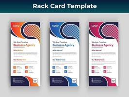 Business rack card or dl flyer design vector