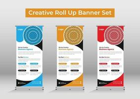 Business agency roll up banner vector