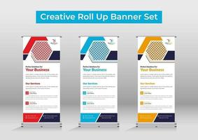 Business roll up banner or signage vector
