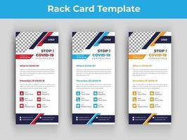 Covid-19 dl flyer or rack card template vector