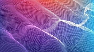 Fondo de tecnología colorida que agita vector
