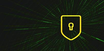 Security on green Technology background vector