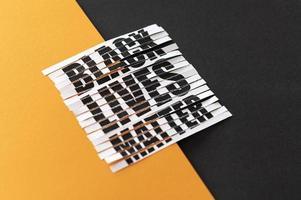 las vidas negras importan signo de protesta foto