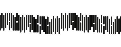 Mini Sound Wave Line on white background vector