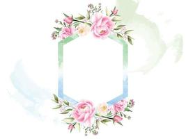 romantic floral watercolor background vector