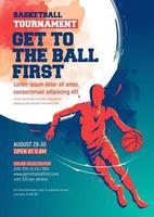 basketball tournament flyer design template vector