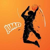 slam dunk splash silhouette vector