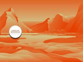 orange landscape background vector