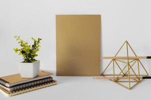 composición de papelería natural foto