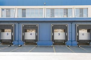 Logistic center concept with storage units photo