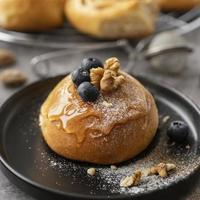Pastry with berries and nuts photo