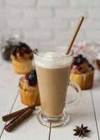 Hot chocolate with cinnamon photo