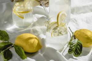 Lemon water composition photo
