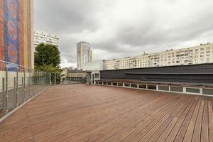 Rooftop area of an apartment complex photo