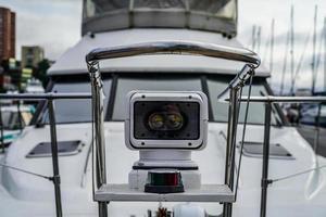 Yacht searchlight close-up photo