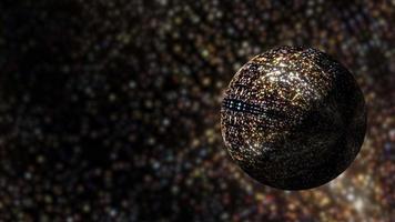 Loop Sci-Fi Glittering Sphere in Glittery Virtual Space video