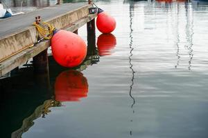 Berth on the background of the water surface. photo
