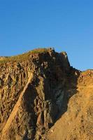 paisaje vertical con vistas a la roca. foto