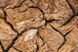 Cracked soil background Drought concept photo