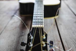 Classic guitar close up photo