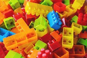 Toy block background photo