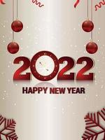 Happy new year celebration party flyer with creative background vector