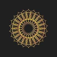 Islamic Ramadan lantern flower abstract vector