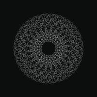 WebCircle Geometric Ornament Vector Graphic White color